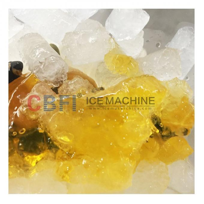 304 Stainless Steel Edible Nugget 	Ice Cube Machine Low Power Consumption