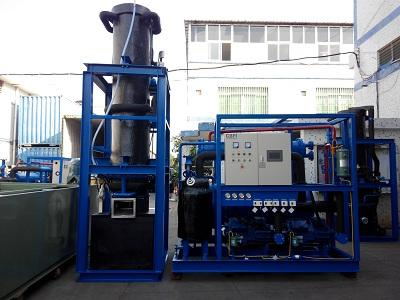 High Production 15 Ton Tube Ice Machine Refrigeration Equipment For Hotel