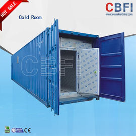 Çin Color Steel Panels Sliding Door Container Cold Room -18 - -25 For Fish And Meat Fabrika