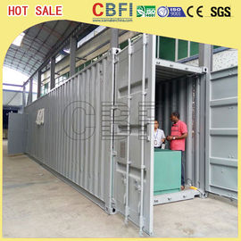 Çin 5 Ton Per Day Containerized Block Ice Machine, Ice Block Making Business  Fabrika