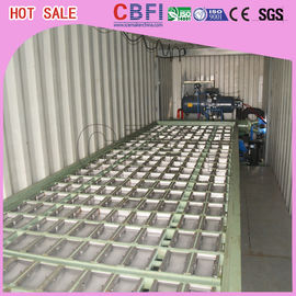 Çin 1 ~ 12 MT Daily Capacity Container Industrial Ice Block Making Machine For Supermarkets Fabrika
