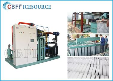 Çin 50 tons Large Capacity   Ice Block  Machine  Power Saving with Coil Evaporator Design Saving Power Fabrika