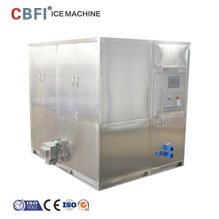 Water Cooled 2 Tons Square Cube Ice Maker for Food Grade Plant Tedarikçi