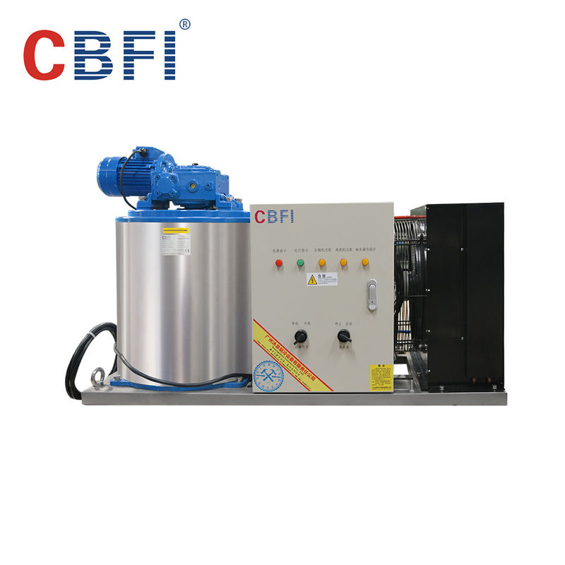 1000kg Capacity Air Cooled Small Flake Ice Machine For Home With Imported Compressor